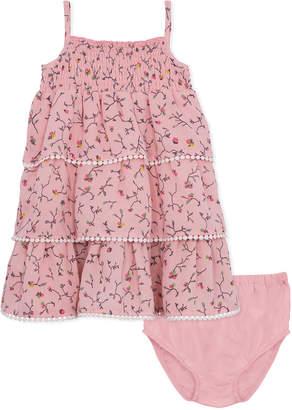 BCBGMAXAZRIA Smocked Ruffle Dress and Panty Set