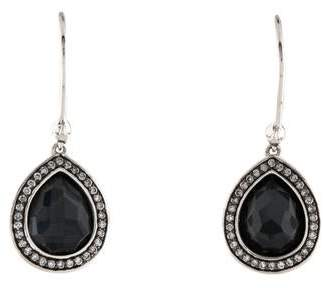 Ippolita Hematite Doublet & Diamond Stella Drop Earrings