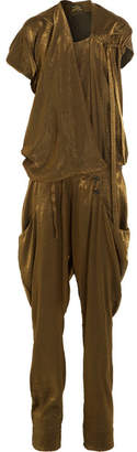 Vivienne Westwood Anglomania - Latifa Draped Lurex Jumpsuit - Gold