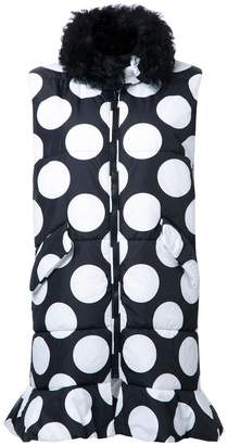 MSGM dotted long waistcoat
