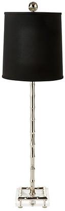 One Kings Lane Minori Bamboo Table Lamp - Nickel