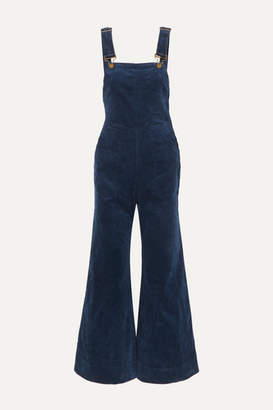 Apiece Apart Caterina Stretch-cotton Corduroy Overalls - Navy