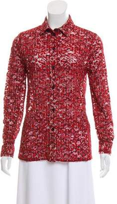 Bottega Veneta Abstract Guipure Lace Top
