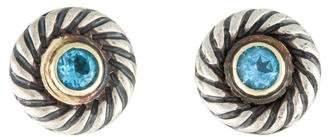 David Yurman Topaz Cookie Stud Earrings