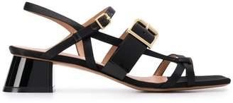 Marni slanted block heel strappy sandals