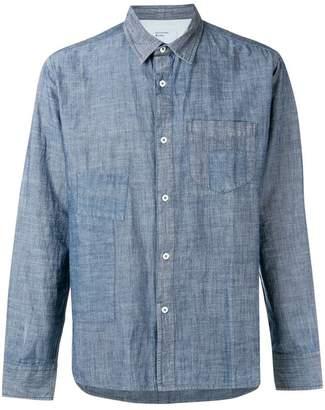 Universal Works Chambray patch shirt