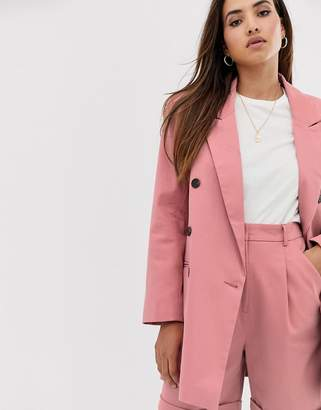 Asos Design DESIGN oversized double breasted dad suit blazer