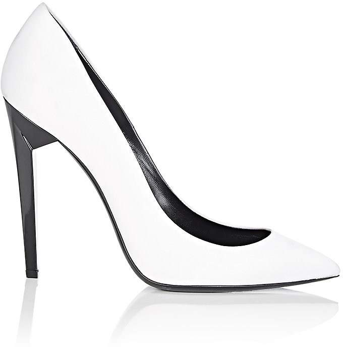Saint Laurent Women's Freja Satin Pumps