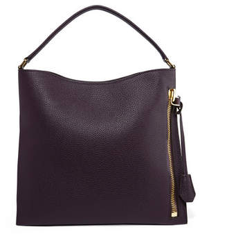 Tom Ford Alix Small Textured-leather Tote - Grape