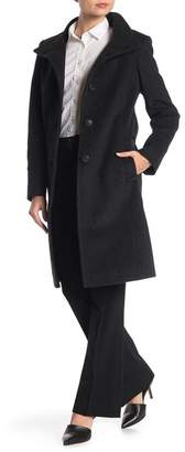 Larry Levine Walker Wool Blend Front Button Coat