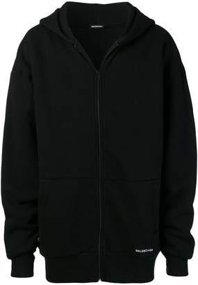 Balenciaga Double layered zip up hoodie