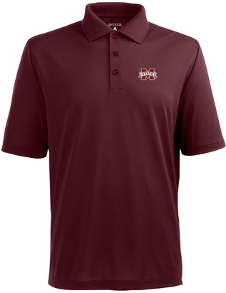 Antigua Men's Mississippi State Bulldogs Pique Xtra Lite Polo