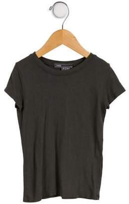 Vince Girls' Short Sleeve V-Neck T-Shirt