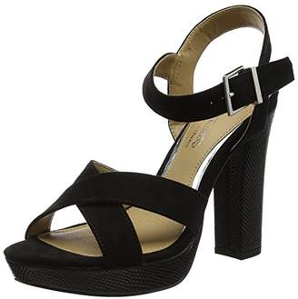 Head Over Heels Women''s Miya Platform Sandals, (Black), 38 EU