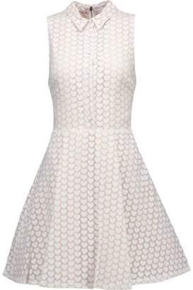 Alice + Olivia Alice+olivia Elly Printed Chiffon Mini Dress