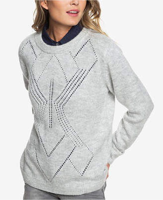 Roxy Juniors' Candidate Waves Pointelle Sweater