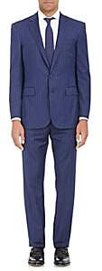 Ralph Lauren Purple Label Men's Anthony Pinstriped Wool Two-Button Suit - Navy