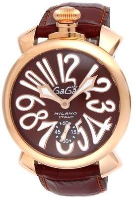 GaGa MILANO [Gagamirano watch Manyuare Dial Stainless Steel (PGPVD) case back cover skeleton Swiss made 501101S-BRW Men's parallel import goods]