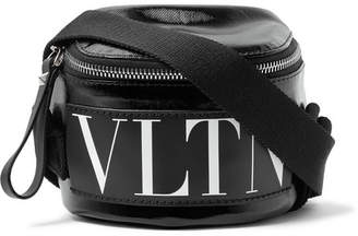 Valentino Logo-Print Coated-Twill Belt Bag