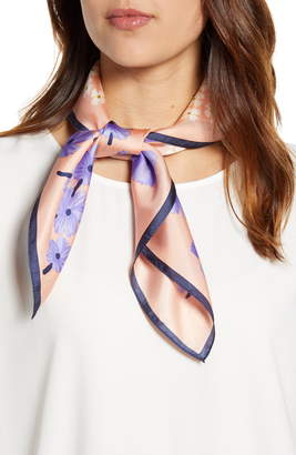Echo Tossed Floral Square Silk Scarf