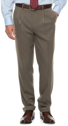 Chaps Men's Classic-Fit Performance Pleated Dress Pants