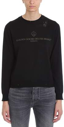 Golden Goose Black Merino Logo Sweater