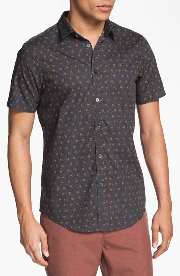 Ben Sherman Floral Print Woven Shirt