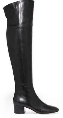 Gianvito Rossi Glossed-Leather Knee Boots