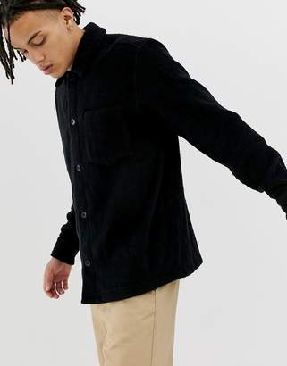 Weekday Cabin towelling shirt in black