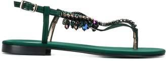 Emanuela Caruso embellished t-strap sandals