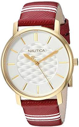 Nautica Women's 'CORAL GABLES' Quartz Stainless Steel and Nylon Casual Watch