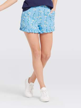 Draper James Daisy Vine Ruffle Short