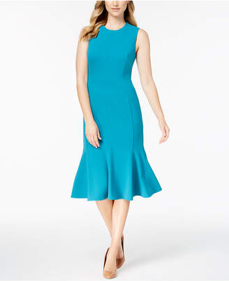Calvin Klein Seamed Trumpet Midi Dress