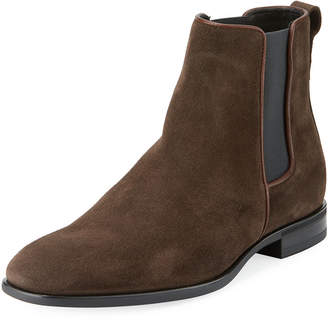 Aquatalia Adrian Suede Dress Boot w/ Stretch Inset