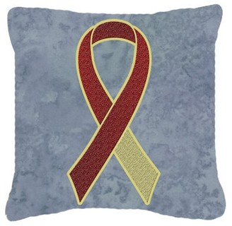 Caroline's Treasures Ribbon for Head and Neck Cancer Awareness Indoor/Outdoor Throw Pillow Caroline's Treasures