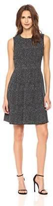 Anne Klein Women's Sleevless Vertical Seamed Fit and Flare Printed Dress