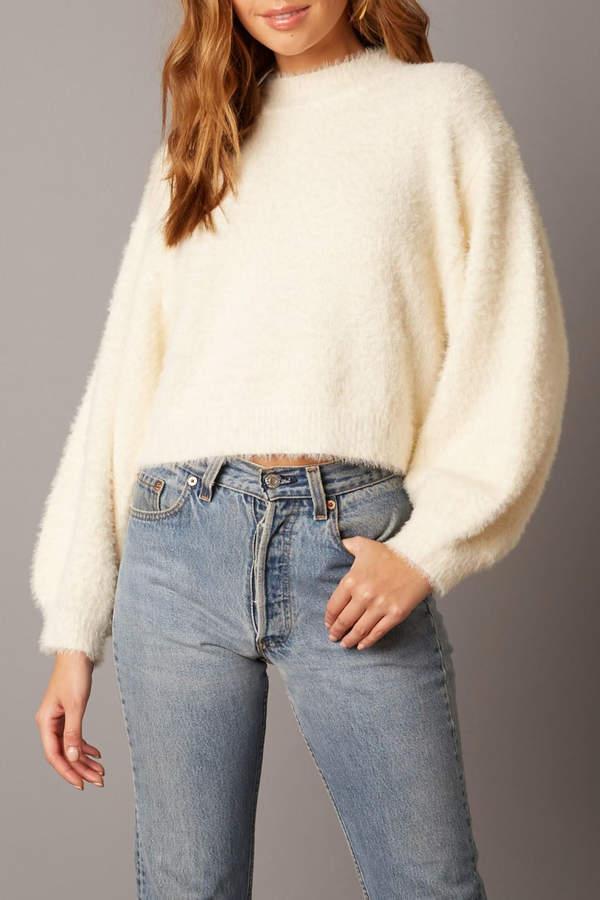 Fuzzy Sweater Ivory
