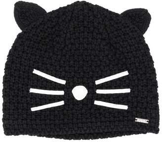 Karl Lagerfeld cat knitted beanie