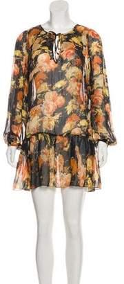 Haute Hippie Floral Mini Dress