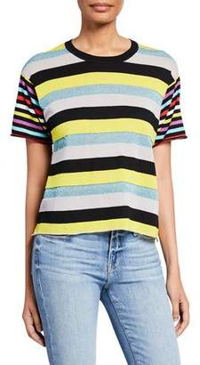 Replica Los Angeles Mix Stripe Short-Sleeve Boyfriend Tee