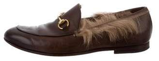 Gucci Fur-Trimmed Princetown Loafers