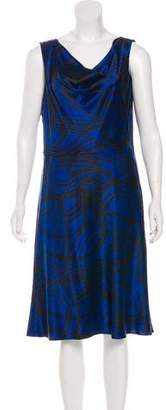 DKNY Silk Brush Stroke Dress