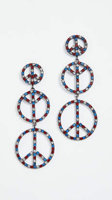 Elizabeth Cole Peace Earrings