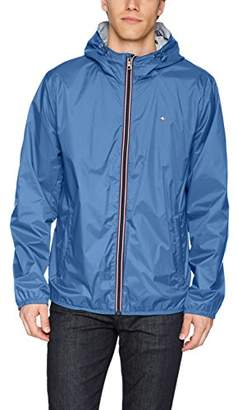 Tommy Hilfiger Men's Active Rain Slicker Jacket with Tricolor Zipper