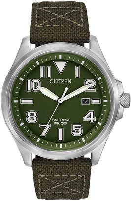Citizen 44mm Men's Canvas Eco-Drive Watch