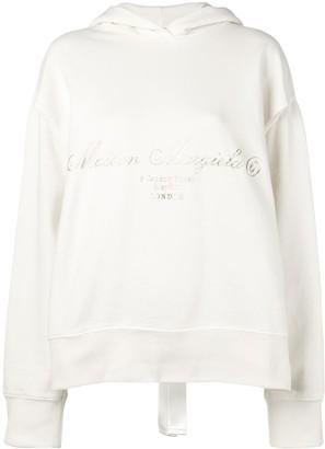 MM6 MAISON MARGIELA printed slit hoodie