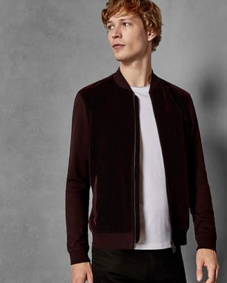 Ted Baker DUNIN Textured velvet bomber jacket