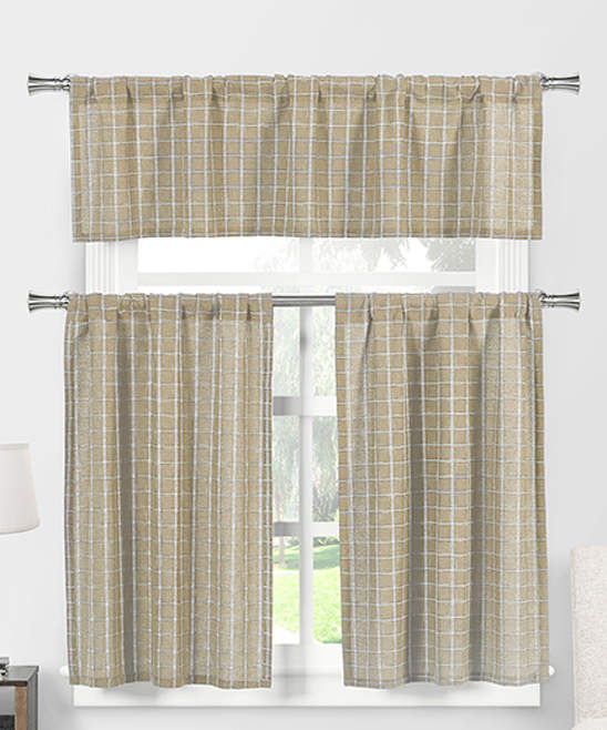 Nicola Curtain Panels & Valance Set