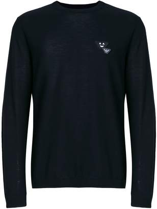 Emporio Armani logo patch jumper