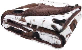 Tadpoles Cowprint Toddler Blanket